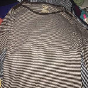 Brown & White striped top